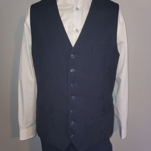 Luciano Natazzi Blue Houndstooth Suit Vest 42L